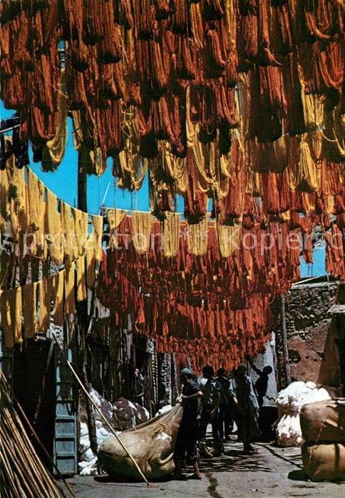 AK / Ansichtskarte Marrakech Marrakesch Rue des Teinturiers  Kat. Marokko