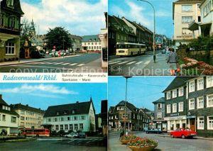 AK / Ansichtskarte Radevormwald Bahnhofstrasse Kaiserstrasse Sparkasse Markt  Kat. Radevormwald