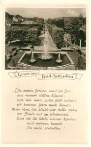 AK / Ansichtskarte Bad Salzuflen Hauptallee mit Leuchtfontaene Kat. Bad Salzuflen