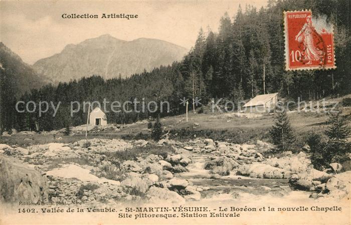 AK / Ansichtskarte Saint Martin Vesubie Boreon et Chapelle Kat. Saint Martin Vesubie