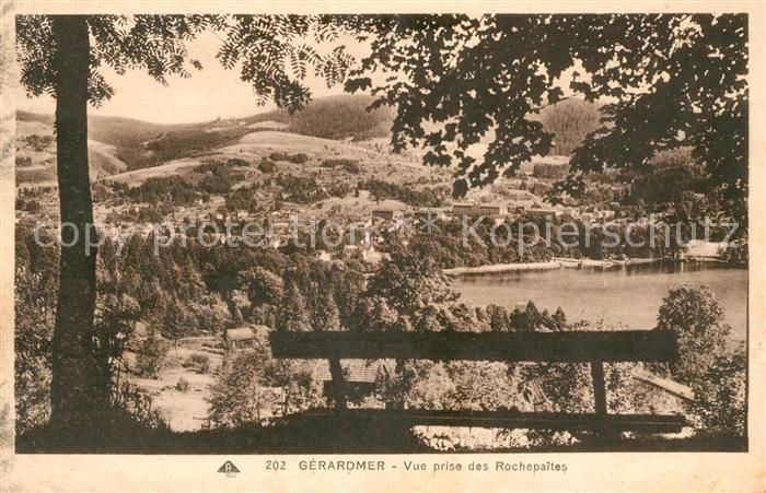 AK / Ansichtskarte Gerardmer Vosges Vue prise des Rochepaites Kat. Gerardmer