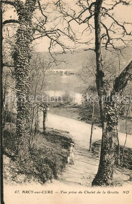 AK / Ansichtskarte Arcy sur Cure Yonne Vue prise du Chalet de la Grotte Kat. Arcy sur Cure
