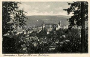 AK / Ansichtskarte Schwarzenberg Erzgebirge Blick vom Rockelmann Kat. Schwarzenberg