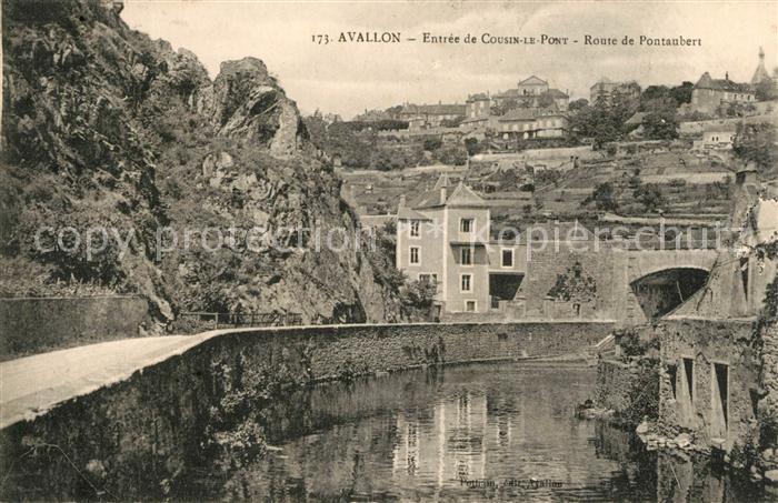 AK / Ansichtskarte Avallon Entree de Cousin le Pont Route de Pontaubert Kat. Avallon