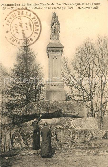 AK / Ansichtskarte La Pierre qui Vire Monastere de Sainte Marie Statue Kat. La Chapelle du Mont de France