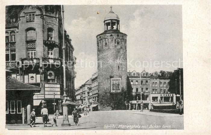 AK / Ansichtskarte Goerlitz Sachsen Marienplatz Dicker Turm Kat. Goerlitz