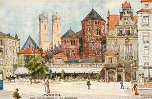 AK / Ansichtskarte Wagner Richard Kuenstler M?nchen K?nstlerhaus Synagoge  / Wagner Richard Kuenstler /