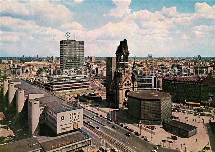AK / Ansichtskarte Berlin Gedaechtniskirche und Europacenter Kat. Berlin