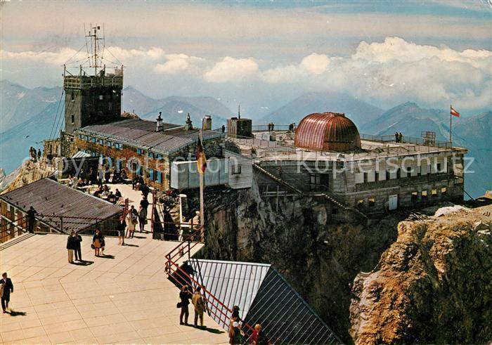 AK / Ansichtskarte Zugspitze Deutsch oesterreichische Bergstation Fliegeraufnahme Kat. Garmisch Partenkirchen
