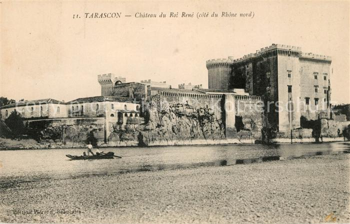 AK / Ansichtskarte Tarascon Bouches du Rhone Chateau du Roi Rene Bords du Rhone