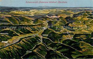 AK / Ansichtskarte Pforzheim Schwarzwald Panorama Wildbad Kat. Pforzheim