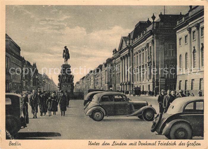 AK / Ansichtskarte Berlin Unter den Linden Denkmal Friedrich des Gossen Kat. Berlin