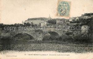 AK / Ansichtskarte Saint Benoit du Sault Route de Limoges Kat. Saint Benoit du Sault