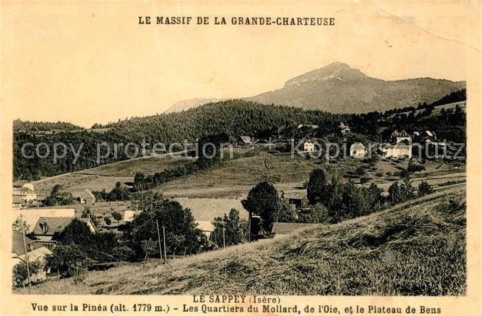 AK / Ansichtskarte Le Sappey en Chartreuse Isere Le Massif de la Grande Chartreuse Kat. Le Sappey en Chartreuse