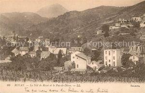 AK / Ansichtskarte Royat Puy de Dome Le Nid de Royat et le Puy de Dome Montagnes Kat. Royat
