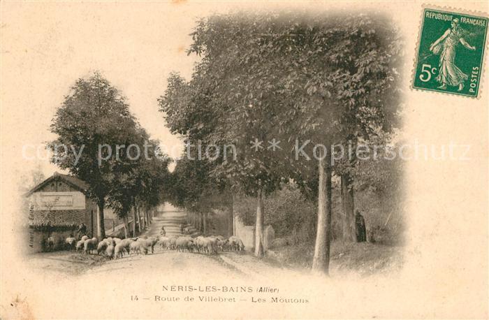 AK / Ansichtskarte Neris les Bains Route de Villebret Les Moutons Kat. Neris les Bains