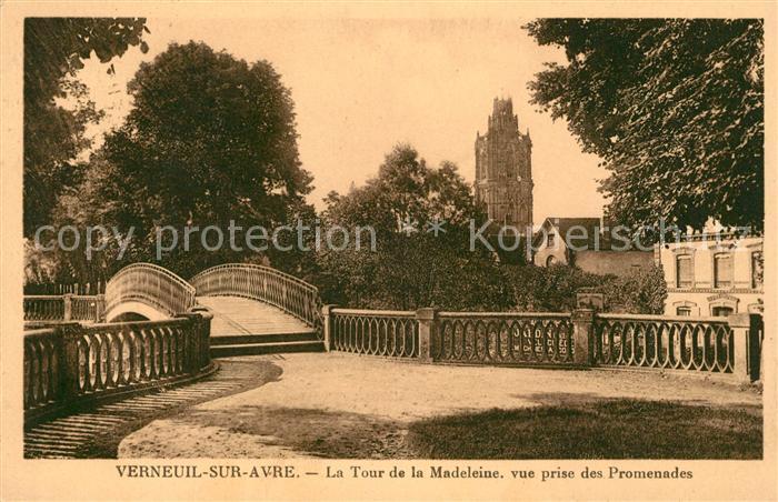 AK / Ansichtskarte Verneuil sur Avre Tour de la Madeleiner vue prise des Promenades Kat. Verneuil sur Avre