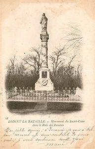 AK / Ansichtskarte Loigny la Bataille Monument du Sacre Coeur dans le Bois des Zouaves Kat. Loigny la Bataille