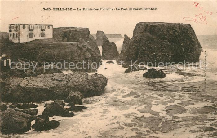 AK / Ansichtskarte Belle Ile en Mer Le Fort de Sarah Bernhart