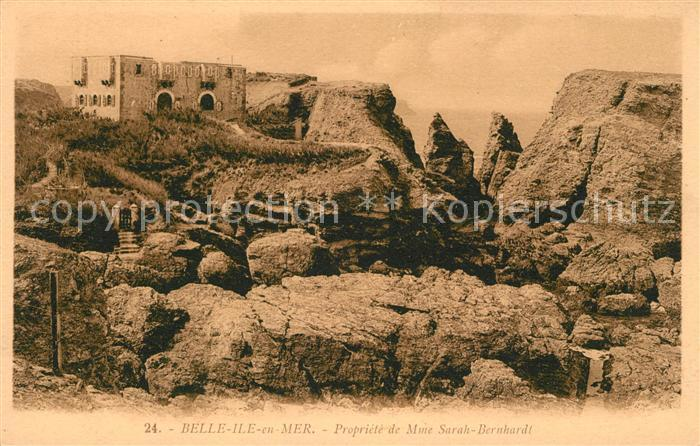 AK / Ansichtskarte Belle Ile en Mer Propriete de Madame Sarah Bernhardt