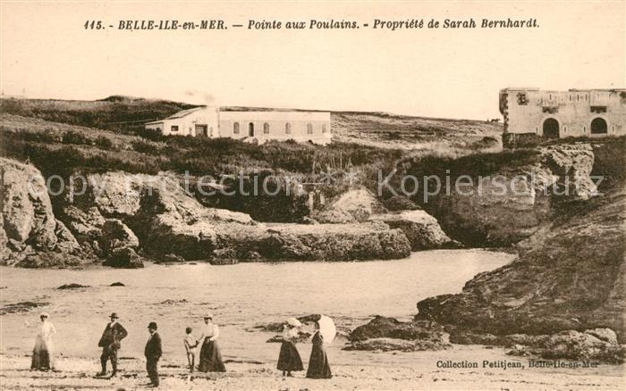 AK / Ansichtskarte Belle Ile en Mer Pointe aux Poulains Propriete de Sarah Bernhardt