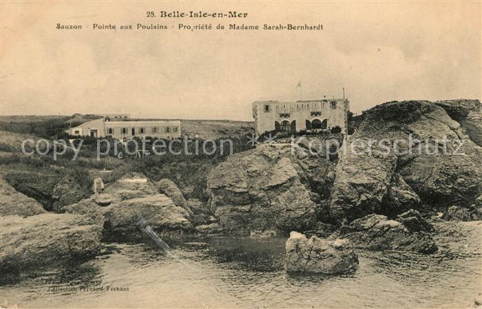 AK / Ansichtskarte Belle Ile en Mer Sauzon Propriete de Madame Sarah Bernhardt