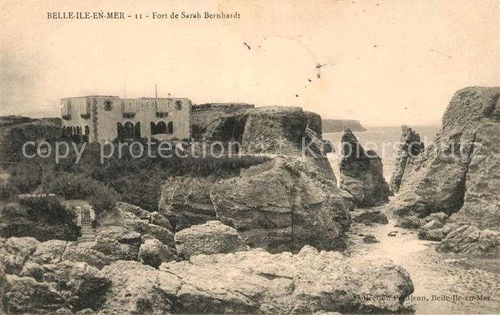 AK / Ansichtskarte Belle Ile en Mer Fort de Sarah Bernhardt