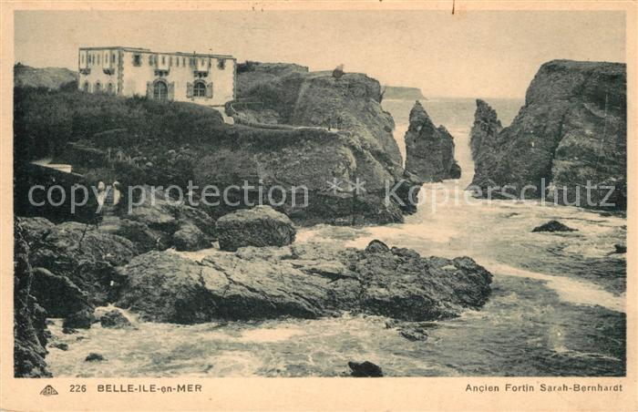 AK / Ansichtskarte Belle Ile en Mer Ancien Fortin Sarah Bernhardt