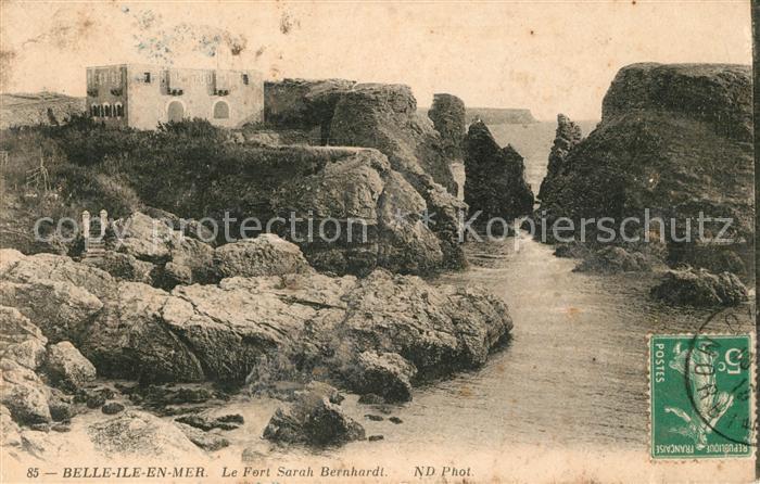 AK / Ansichtskarte Belle Ile en Mer Fort Sarah Bernhardt