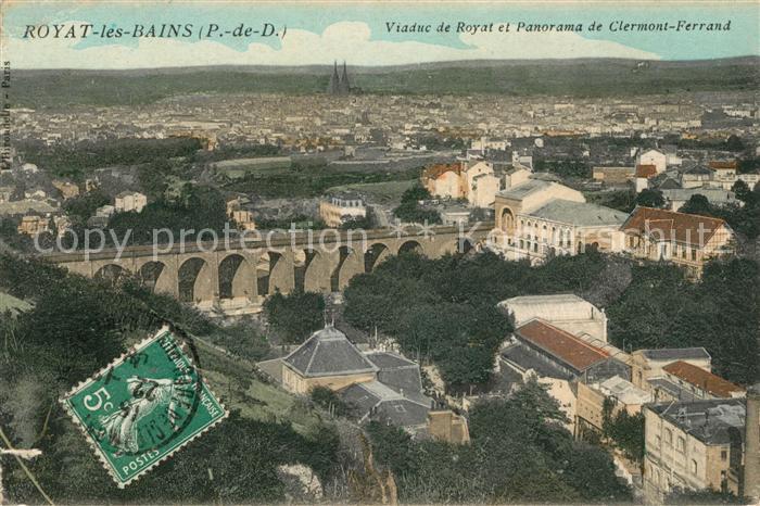 AK / Ansichtskarte Royat les Bains Viaduc de Royat et Panorama de Clermont Ferrand