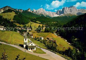 AK / Ansichtskarte Tiers Dolomiten St Cyprian mit Rosengarten Kat. Italien