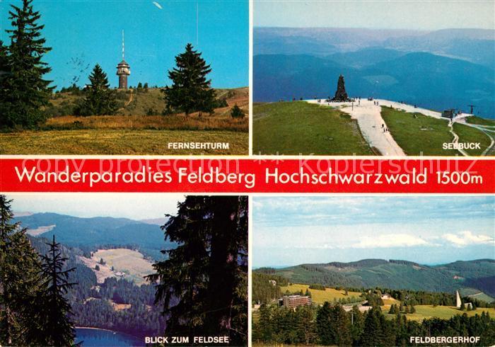 AK / Ansichtskarte Feldberg Schwarzwald Fernsehturm Seebuck Feldsee Feldberger Hof Kat. Feldberg (Schwarzwald)