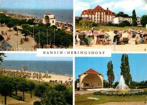 AK / Ansichtskarte Heringsdorf Ostseebad Usedom Bansin Musikpavillon Strand FDGB Heim Kurpark Heringsdorf Kat. Heringsdorf