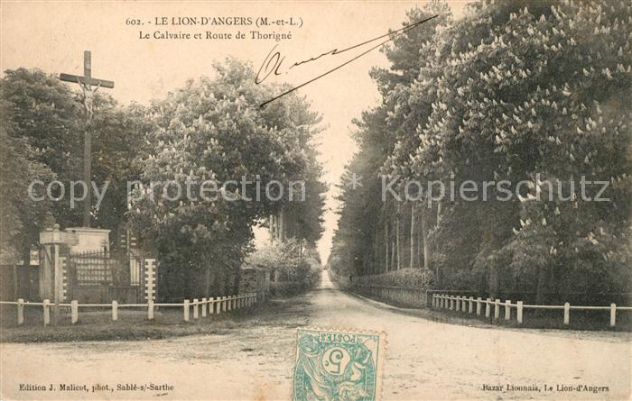 AK / Ansichtskarte Le Lion d Angers Le Calvaire et Route de Thorigne Kat. Le Lion d Angers