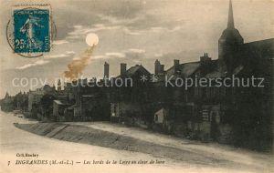 AK / Ansichtskarte Ingrandes Maine et Loire Les bords de la Loire au clair de lune Kat. Ingrandes