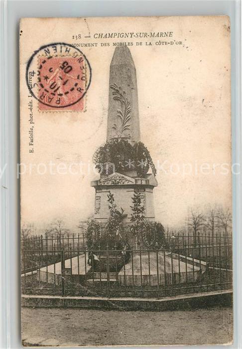 AK / Ansichtskarte Champigny Marne Monument des Mobiles de la Cote D`Or Kat. Champigny