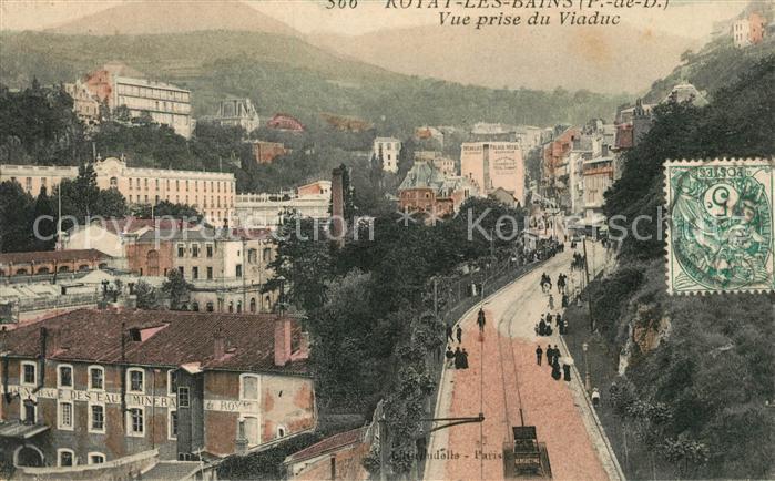 AK / Ansichtskarte Royat Puy de Dome Vue prise du Viaduc Kat. Royat