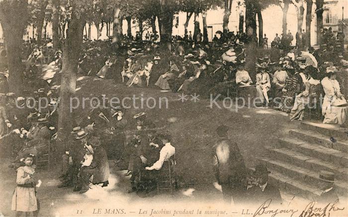 AK / Ansichtskarte Le Mans Sarthe Les Jacobins pendant la musique Kat. Le Mans
