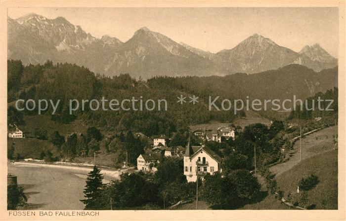 AK / Ansichtskarte Bad Faulenbach Panorama mit Allgaeuer Alpen Kat. Fuessen