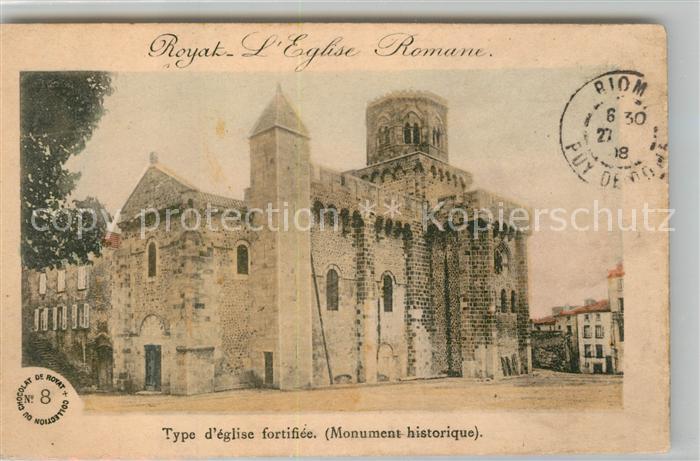 AK / Ansichtskarte Royat Puy de Dome Eglise Romane Monument historique Kat. Royat