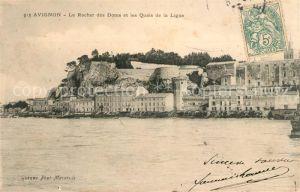 AK / Ansichtskarte Avignon Vaucluse Le Rocher des Doms et les Quais de la Ligne Kat. Avignon