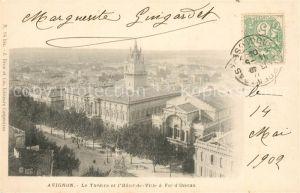 AK / Ansichtskarte Avignon Vaucluse Theatre et Hotel de Ville  Kat. Avignon