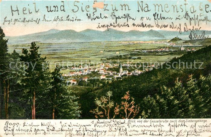 AK / Ansichtskarte Bonn Rhein Blick von der Casselsruhe zum Siebengebirge Kat. Bonn