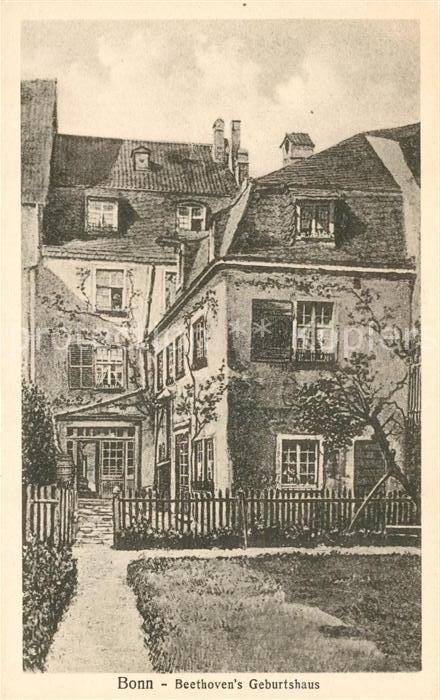 AK / Ansichtskarte Bonn Rhein Beethovens Geburtshaus Kat. Bonn