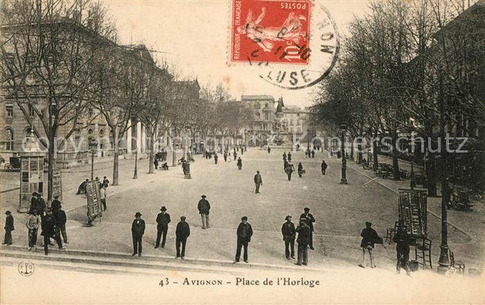 AK / Ansichtskarte Avignon Vaucluse Place de l`Horloge Kat. Avignon