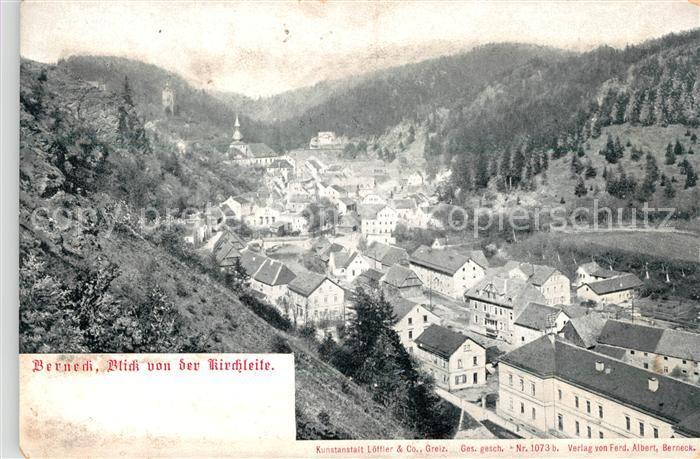 AK / Ansichtskarte Berneck Fichtelgebirge Blick von der Kirchleite Kat. Bad Berneck