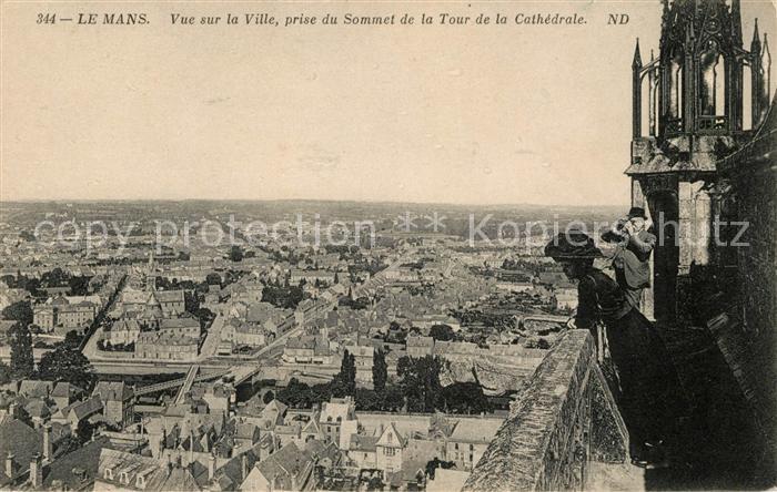 AK / Ansichtskarte Le Mans Sarthe Vue sur la ville prise du Sommet de la Tour de la Cathedrale Kat. Le Mans