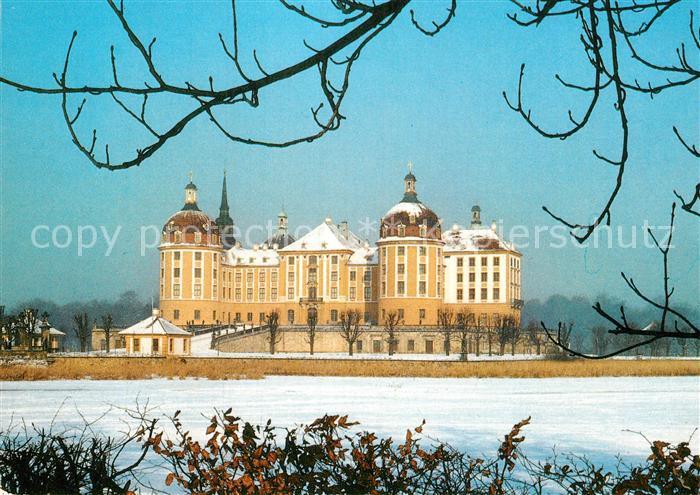 AK / Ansichtskarte Moritzburg Sachsen Barockmuseum Schloss Moritzburg  Kat. Moritzburg Dresden