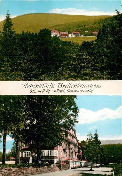 AK / Ansichtskarte Breitenbrunnen Hoehenklinik  Kat. Sasbachwalden