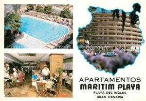 AK / Ansichtskarte Playa del Ingles Gran Canaria Apartamentos Maritim Playa Kat. San Bartolome de Tirajana